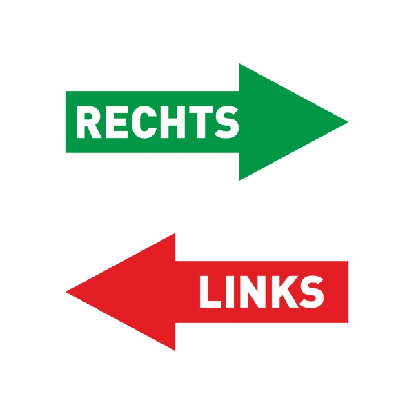 "Plottaufkleber Pfeile ""Rechts & Links"""