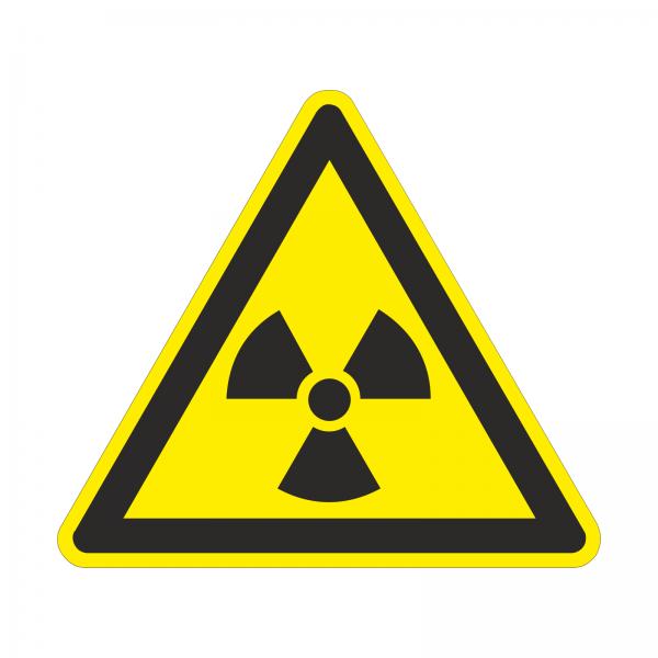 """""""Radioaktivität"""" Warnhinweis-Aufkleber"""