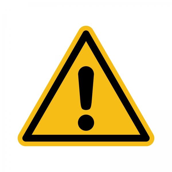 Warnzeichen nach DIN EN ISO 7010