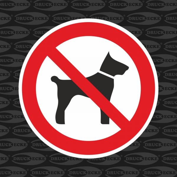 """""""Mitführen von Tieren verboten"""" Aufkleber"""