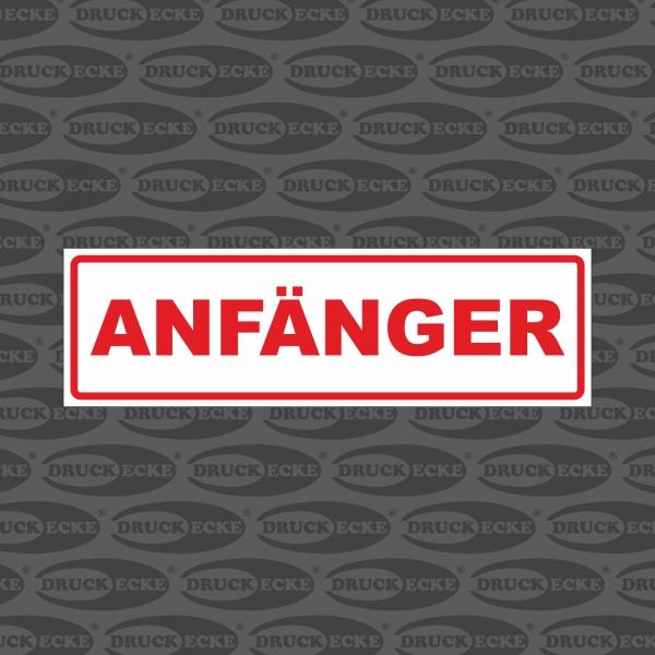 Fahranfänger Autoaufkleber / Magnetfolie