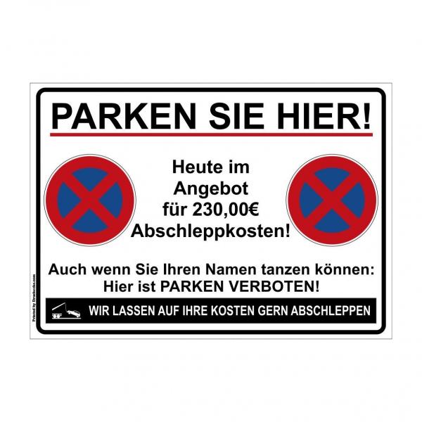 Parkverbot Scherzschild