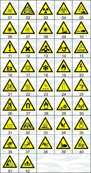 Warnzeichen-Aufkleber