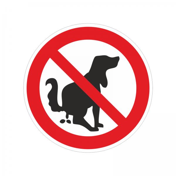 """Aufkleber Verbotszeichen """"Kein Hundeklo!"""""""