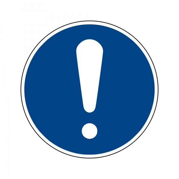 Gebotszeichen nach DIN EN ISO 7010
