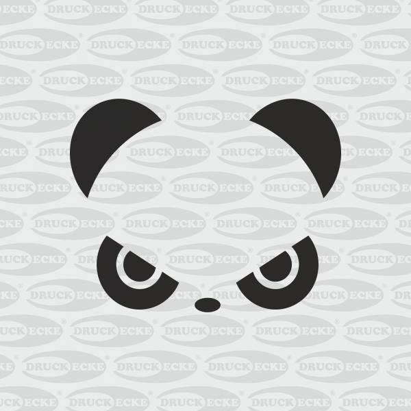 Böser Panda-Aufkleber