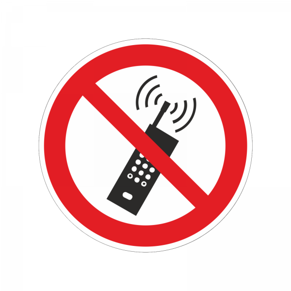 """Mobiltelefone verboten"" Aufkleber"