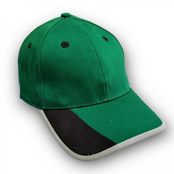 Basecap Grün/Schwarz mit Reflektorstreifen