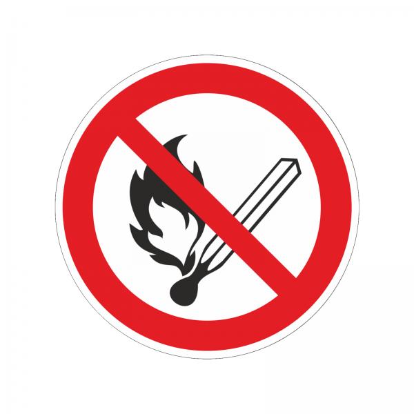 """""""offenes Feuer verboten"""" Aufkleber"""