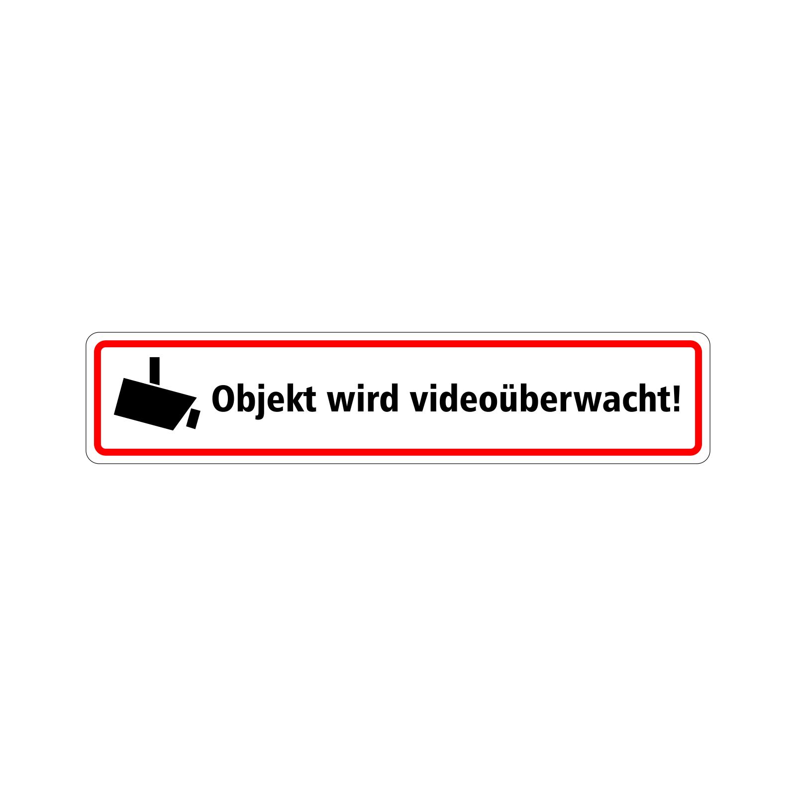 Aufkleber Objekt Wird Videoüberwacht