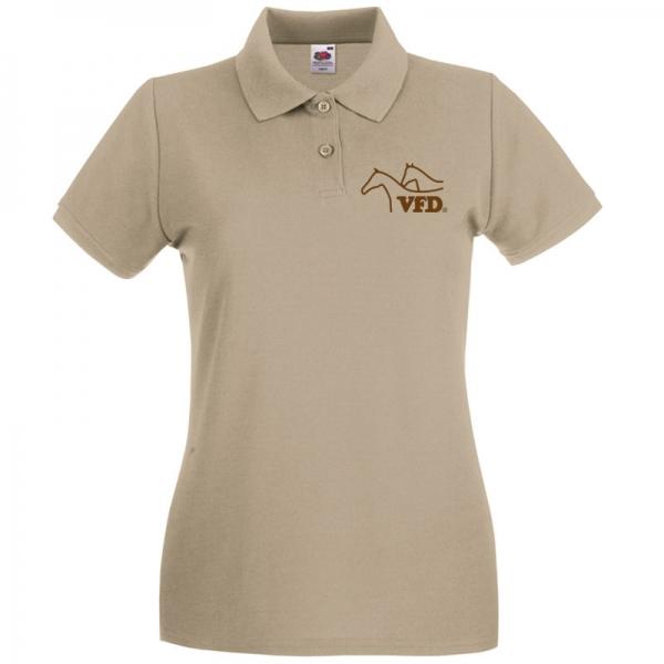 VFD Poloshirt für Frauen mit Flexdrucklogo