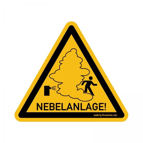 """Nebelanlage"" Warnhinweis-Aufkleber"