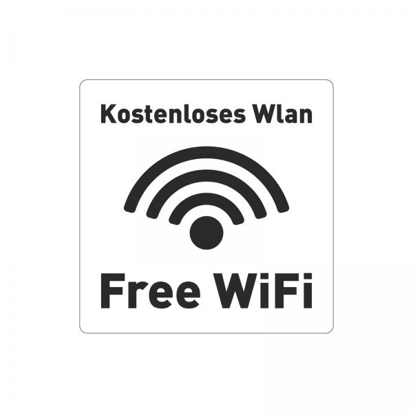 """Free Wifi"" Aufkleber"