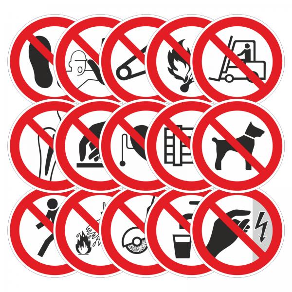 Verbotszeichen-Aufkleber