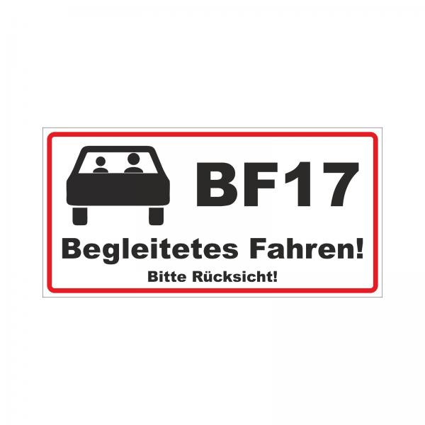 """""""Begleitetes Fahren"""" Aufkleber / Magnetfolie"""
