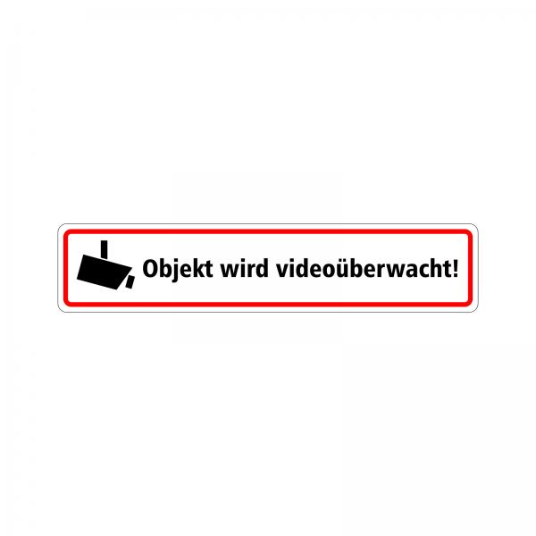 """Aufkleber """"Objekt wird Videoüberwacht"""""""