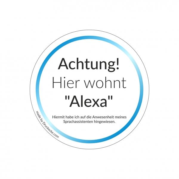 Hinweisaufkleber Alexa-Sprachassistent