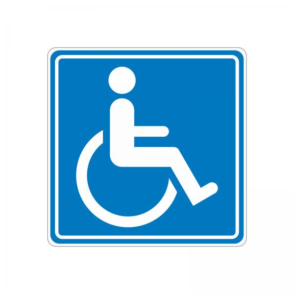 Aufkleber Rollstuhl
